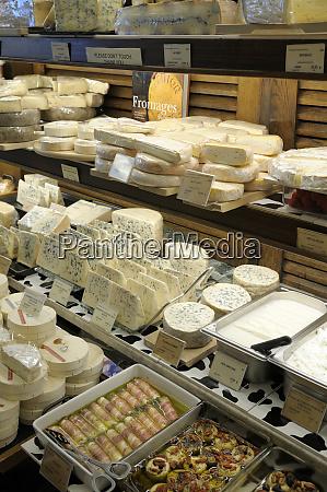 france paris french cheeses at a