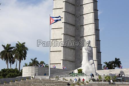 cuba havana base of marti memorial