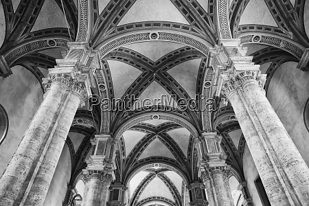 italy pienza interior of cathedral of