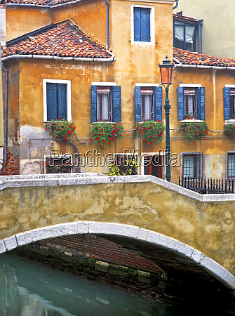 italy venice canal bridge and buildings