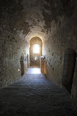 narrow corridors inside the abbey of