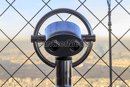 strategically placed binoculars enable visitors to