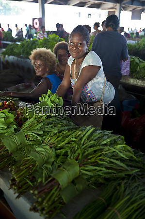 sales woman at the market hall
