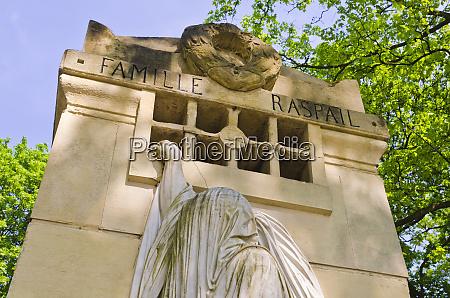 raspail mausoleum at pere lachaise cemetery