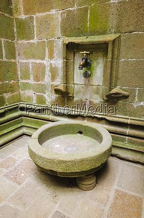 water faucet mont saint michel monastery