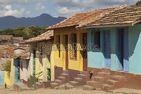 cuba trinidad a row of colorful