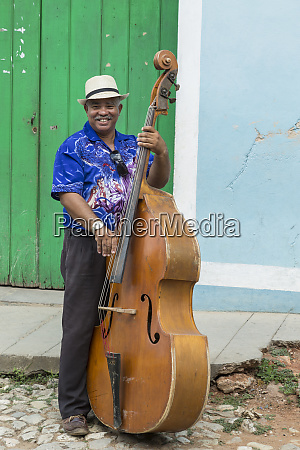 cuba trinidad a musician plays his