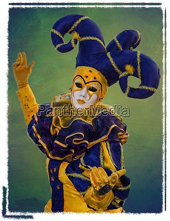 elaborate costume for carnival venice italy