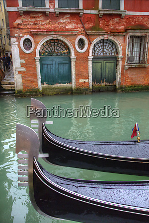 gondolas along the grand canal venice
