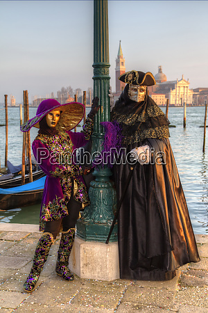 venice at carnival time italy