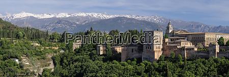 spain andalusia granada panorama of the
