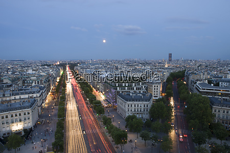 champs elysees paris from the top
