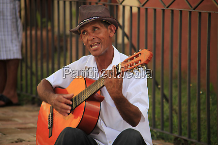 central america cuba trinidad guitar player