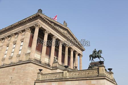 germany berlin old national gallery facade