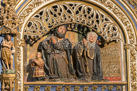 spain salamanca religious sculpture in cathedral