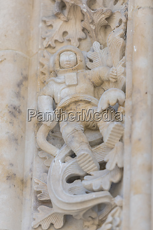 spain salamanca cathedral relief sculpture of