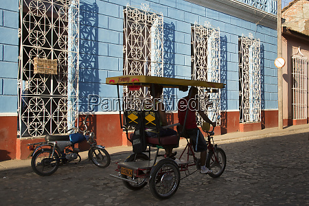 cuba trinidad bicycle taxi trinidad and