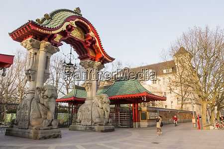 germany berlin elephant gate at the