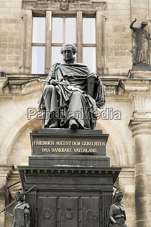 germany dresden statue and higher regional