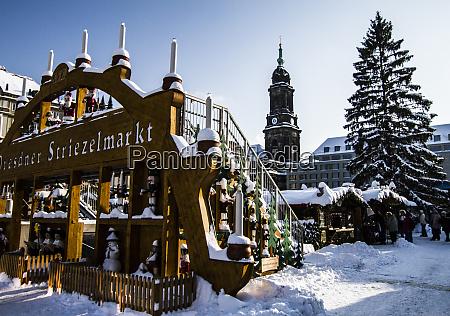 dresden germany christmas market advent pyramid