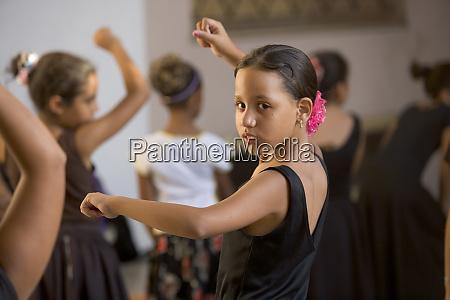 young girls learning tango dance cienfuegos