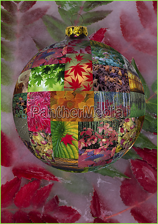 christmas bulb made from picture sphere