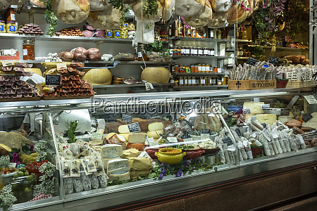 italy florence food display