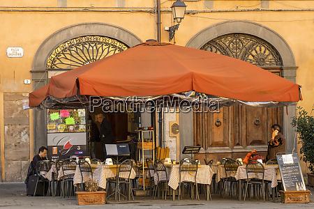 italy lucca outdoor restaurant
