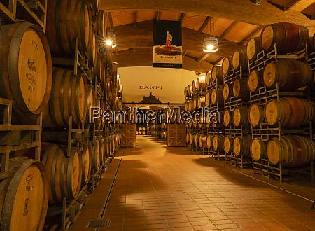 italy winery banfi wine casks storage