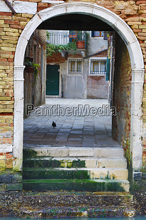 italy venice doorway on a canal