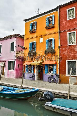 italy venice orange and purple building