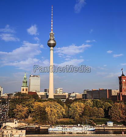 berlin germany fernsehturm tv tower at