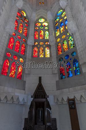 europe spain barcelona sagrada familia stained