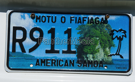 license plate of american samoa south