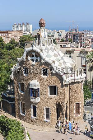 europe spain barcelona park guell