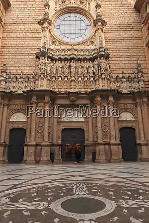 the inner courtyard of the benedictine