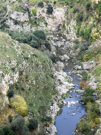 italy basilicata matera the gravina river
