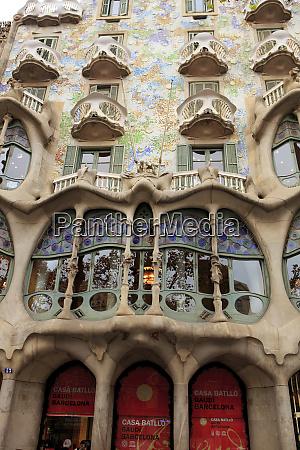 casa battlo in downtown barcelona spain