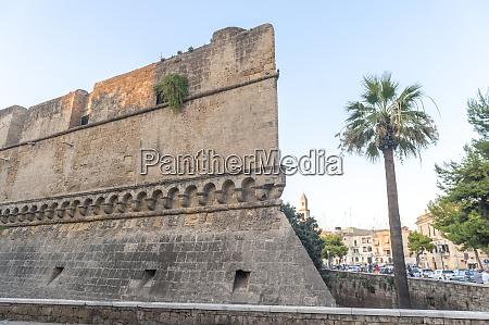 svevo castle old town bari italy