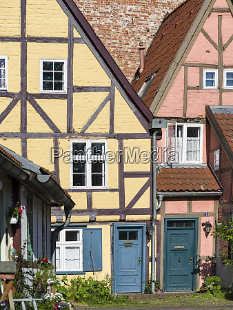 traditional medieval frame houses part of