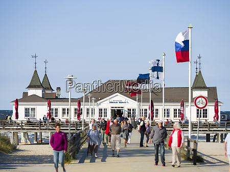 famous pier in ahlbeck an iconic