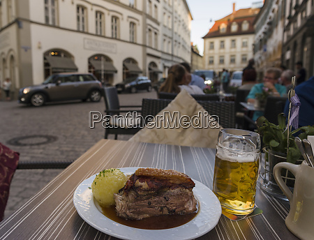 schaeuferla mit knoedel a traditional dish