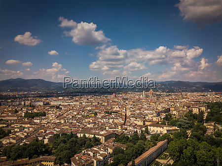 beautiful florence city skyline with florence