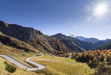 road to passo di fedaia near