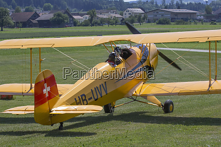 two pilots getting ready for takeoff