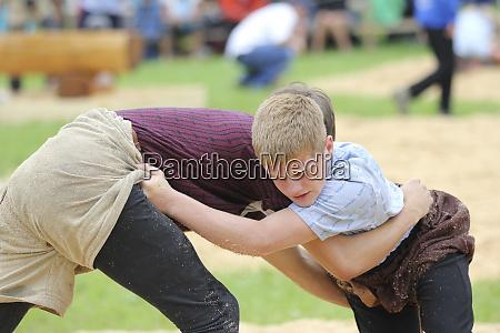 jakobsbad switzerland traditional lifting or wrestling