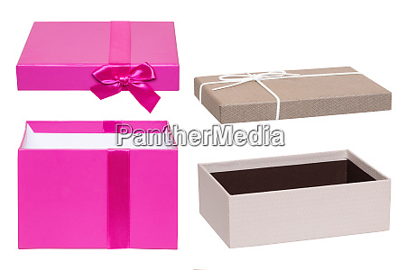 gift box isolated close up of