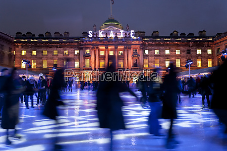 ice skaters at somerset house ice