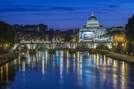 italy rome twilight tiber river