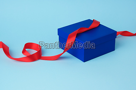 square blue cardboard box for a